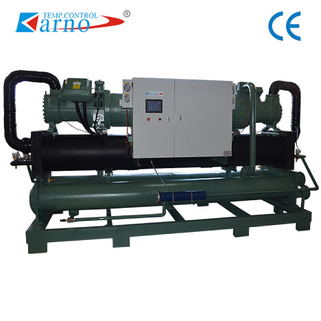 Water-cooled screw type double head chiller